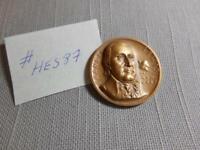 "1967 Medallic Art Declaration Independence Francis Lewis 1.25"" Bronze Medal Circ"