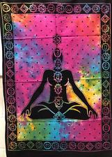 Tenture MURAL INDIEN méditation tapisserie Chakra décor de BOHO Jeté lit