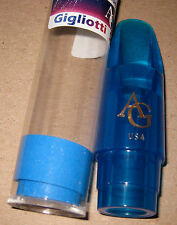 SPECIAL SALE!  MINT GIGLIOTTI SPECTRUM BLUE TENOR SAXOPHONE  MOUTHPIECE
