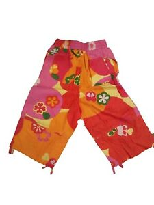 NEW OILILY GIRLS VIBRANT FLORAL LONG COTTON SHORTS 110 5y 140 9-10
