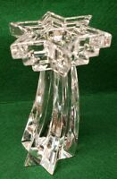 """WMF Germany 24% Lead Crystal Multi-Tiered Star of David 6"""" Candlestick STUNNING!"""