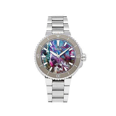 Oris Aquis Date Upcycle Auto Steel Mens Bracelet Watch 01 733 7770 4150-Set