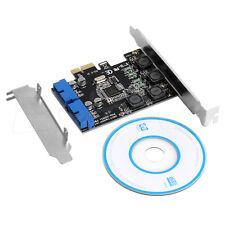 2 Port 19Pin USB 3.0 Card PCI-e to Internal 20Pin Male Ports Adapter PCI Express