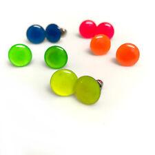 8c39f82f2979 10 mm botón Redondo Aretes En Colores Brillantes Retro 70s años 80 Retro  elaborado S10