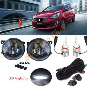 LED Fog Lights Lamp Harness s For Mitsubishi Attrage Mirage G4 Sedan 2012-2021