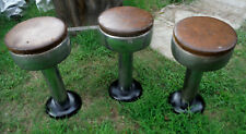 """Set of 3 Vintage Swivel Bar Stools - 23 inches Tall x 12"""" in Diameter (R)"""