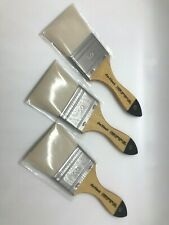 Lot of 3 Da Vinci 50 artist paint brushes Varnish & Priming Series 2475