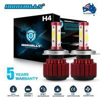 4-sides H4 HB2 9003 LED Headlight Kit Conversion Globes Bulb Hi-Lo Beam 6000K