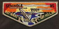 MERGED SEMINOLE OA LODGE 85 BSA GULF RIDGE FLORIDA 2001 JAMBOREE DELEGATE FLAP