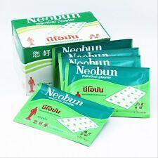 20 Pcs (200 Plasters) NEOBUN Menthol Plaster Pain Tooth Ache Muscle Relief