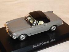Fiat 1500 Cabriolet Cabrio Grau 1963 Soft Top 1/43 De Agostini Modell Auto Model