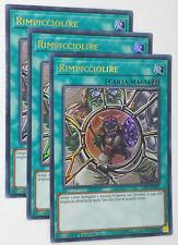 Set 3X  RIMPICCIOLIRE  LCKC-IT043 Ultra Rara in Italiano YUGIOH