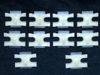 "GM GMC Body Fender Door Trim Clip Molding 1//4/"" Thread Cutting Stud Nuts 10pcs M"