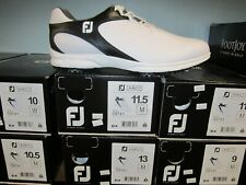 FootJoy Mens ARC XT Golf Shoes White/Black Sz 9.5M Discontinued Style