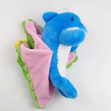 """Swaddle Baby Blue Dolphin Plush Doll Blanket Babies by Fiesta 11"""" Lovey"""