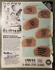 ROCKY MARCIANO Motivational Rock Collection Magazine Ad-Circle Gifts