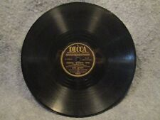 "78 RPM 10"" Record Bing Crosby Chattanoogie Shoe Shine Boy & Bibbidi Decca 24863"