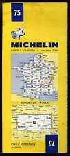 carte MICHELIN   no  75  BORDEAUX TULLE  1972  ( 7 em édition )