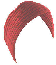 Turban Hat Head Cover Winter Knit Hat Beanie Red