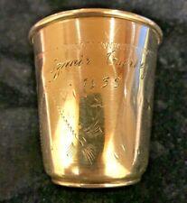 "Monogrammed ""RMG"" 800 Silver Cup"
