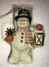 Lenox 2006 Starlight Snowman ornament In Box