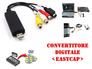 CONVERTITORE ANALOGICO DIGITALE USB AUDIO VIDEO PC da VHS a DVD VIDEO TELECAMERA