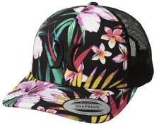 2c783a48c897f Men s Hurley Classic Garden Floral Trucker Hat Black Purple Multi Color