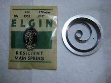 ELGIN P/W MAIN SPRING  #1956   18s  VERITAS  ( .178mm / .007 in )