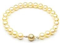 $1,699 Pacific Pearls® AAA 7-7.5mm Japanese Akoya Saltwater Gold Pearl Bracelet