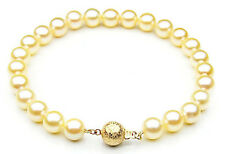 $1,699 Pacific Pearls® AAA 7-7.5mm Japanese Akoya Saltwater Gold Pearl Bracelet