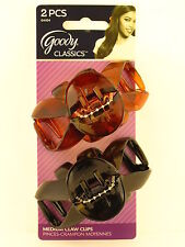 GOODY CAROLINA MEDIUM CLAW HAIR CLIPS - 2 PCS. (04404)