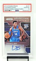 2019 Prizm Sensational Signature Thunder LUGUENTZ DORT Card PSA 10 GEM MINT Pop1
