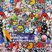 "*12""x60"" JDM USDM Anime Graffiti StickerBomb Vinyl Decal Sticker Wrap Sheet #HD"