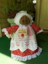 "Soft Sculptured 23"" Free-Standing Grandma Black/Afro American Kerchief/white"