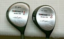 Pair of Thunderbolt II 17-4PH model 659 Golf Clubs #1 & #3 Fairway Drivers Used