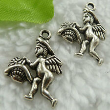 Free Ship 220 pieces tibet silver angel charms 22x16mm #380