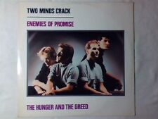 "TWO MINDS CRACK Enemies of promise / The hunger and the greed 12"" ITALY UNIQUE"