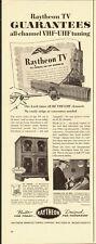 1951 vintage Television Ad, RAYTHEON Cabinet TV SETS -042514