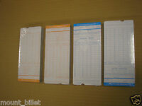 50 PCS Monthly Time Clock Cards Attendance Payroll Recorder Timecards