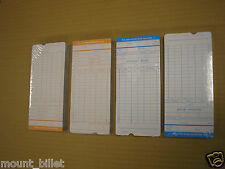 100 PCS Monthly Time Clock Cards Attendance Payroll Recorder Timecards