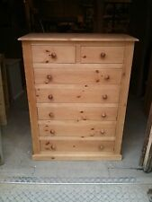 PINE FURNITURE EDWARDIAN RANGE 5+2 DRAWER CHEST ANTIQUE HANDWAX NO FLAT PACKS!!