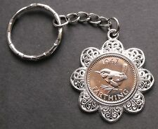 1952 65th birthday Lucky Farthing Pendant Charm key ring + gift box present king