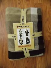 WOOLRICH Women's Tan/Brown  REVERSIBLE WRAP ONE SIZE FITS ALL 100% POLYESTER