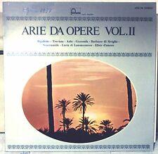 ARIE DA OPERE VOL.II - RIGOLETTO/TRAVIATA/AIDA/LUCIA DI LAMMEMOOR - VINILE LP
