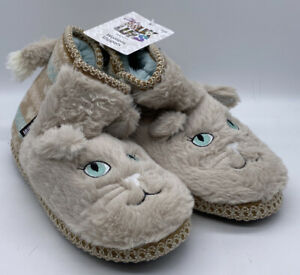 MUK LUKS Tan Brown KITTY CAT Slipper Faux Fur Bootie Women's Size 7 - NWT