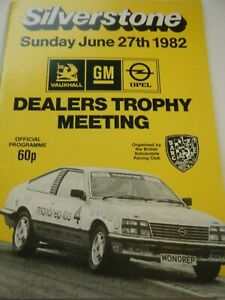SILVERSTONE PROGRAMME 1982 DEALER TROPHY GERRY MARSHALL FORD CAPRI OPEL MONZA