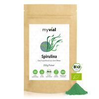 Bio Spirulina Pulver 250g vegan | 100% naturbelassen und rein | Spirulina platen