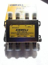 DirecTV FTA Zinwell 4X4 MultiSwitch SAM-4402-3A DTV Approved Switch 4 x TV 4402