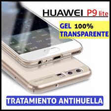 FUNDA TPU DE GEL SILICONA 100% TRANSPARENTE PARA HUAWEI P9 LITE CARCASA PLASTICO