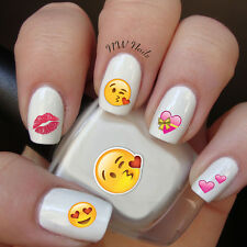 Valentines Emoji Heart Nail Art Waterslide Decals Valentines Day  *Salon Quality